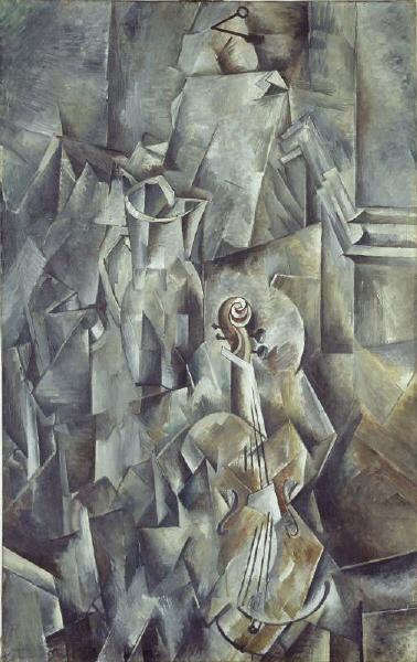 Georges Braque (3) [Pitcher and Violin].jpg