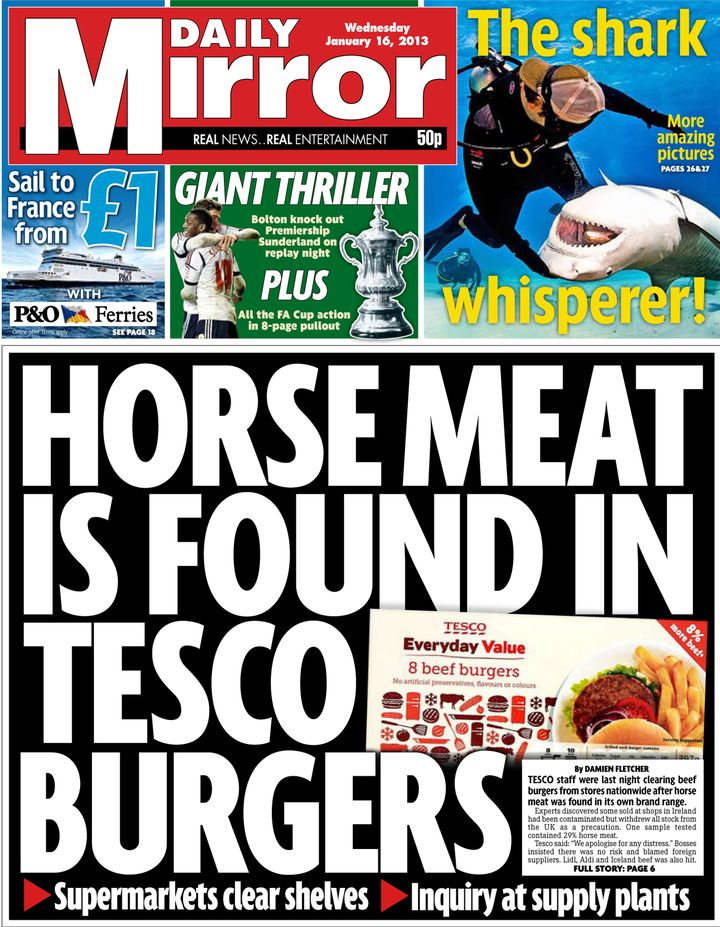 Daily Mirror front page - Wednesday 16th January.jpeg