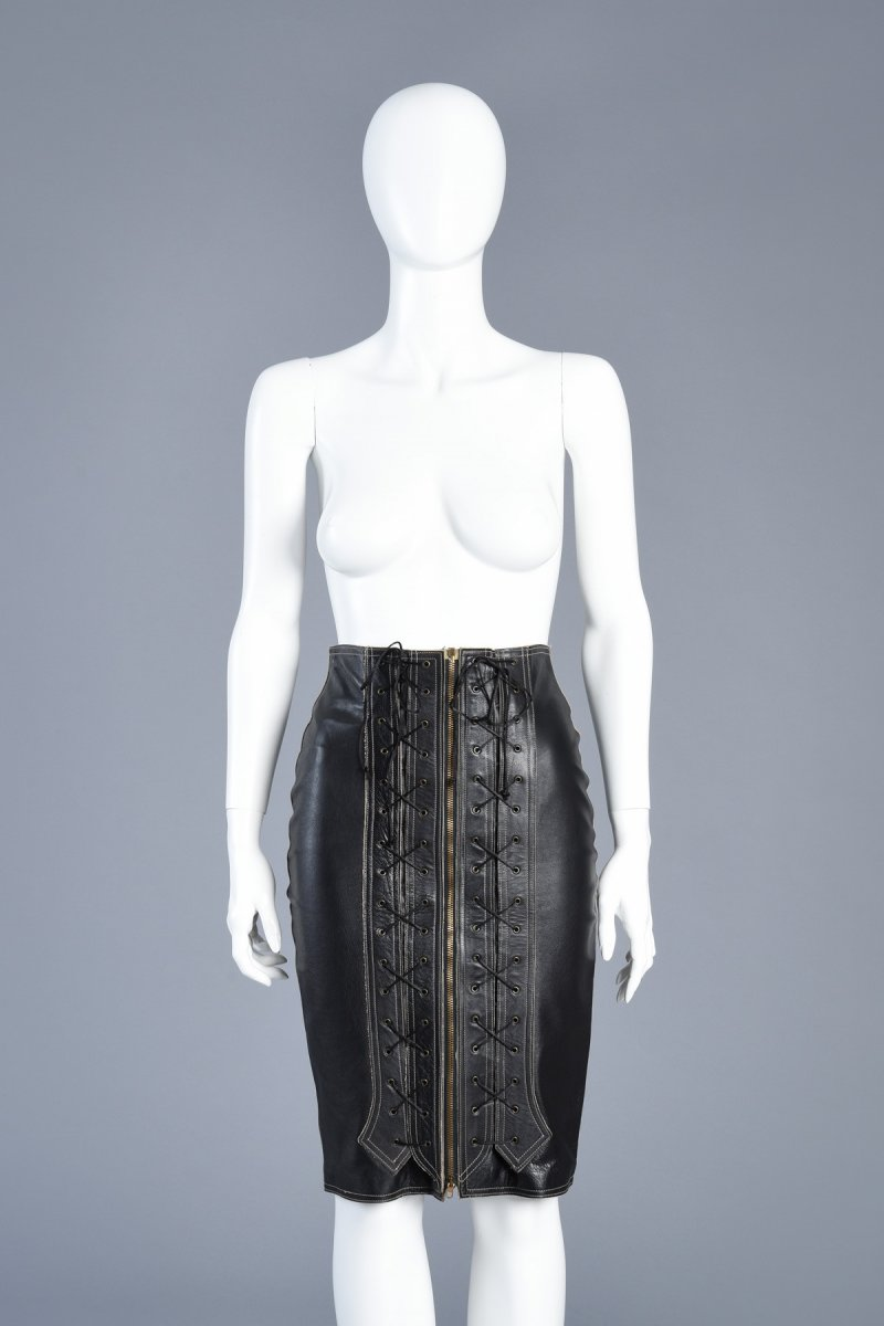 bustown-modern-vintage-jean-paul-gaultier-black-leather-corset-front-zip-pencil-skirt-001.jpg