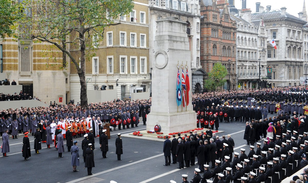 Wreaths_Are_Laid_at_the_Cenotaph,_London_During_Remembrance_Sunday_Service_MOD_45152052.jpg