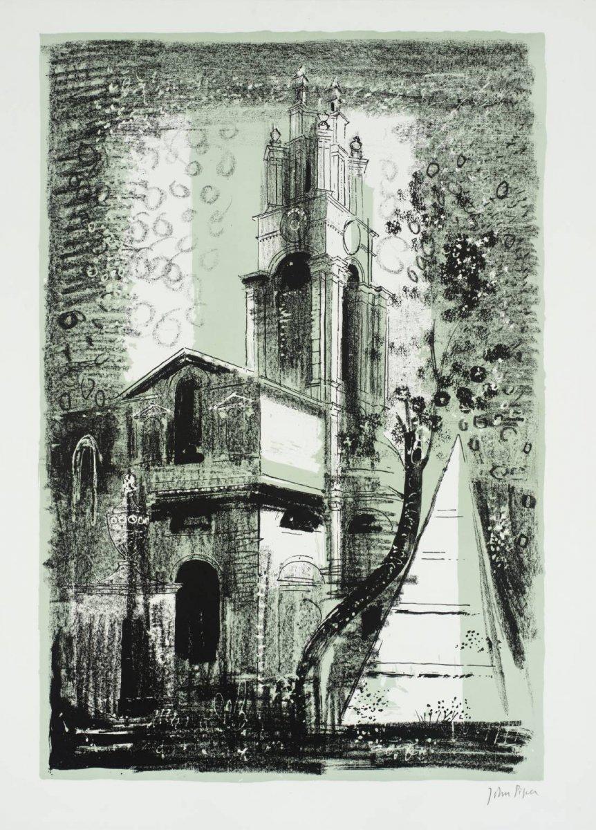 20. St Anne's, Limehouse, London - by Nicholas Hawksmoor, John Piper 1964.jpg