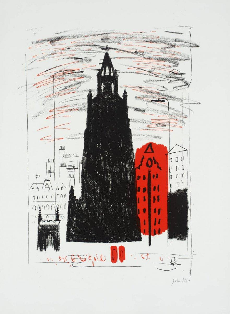 15. St Nicholas, Liverpool - Smoke-black Dockland Church, John Piper, 1964, tate.jpg