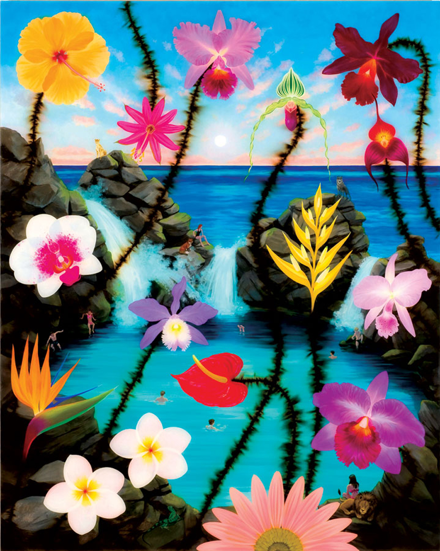 Armstrong-Passion-Flower-over-Paradise-Pool-2008-acrylic-bomb-fuse-and-resin-on-linen-on-birch-panel-60x48in-NON4805.jpg